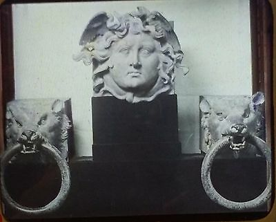 Medusa and Two Dogs, National Museum, Rome, Italy, Magic Lantern Glass Slide