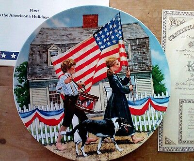 """Knowles """"The fourth of July"""" plate. #13370r"""