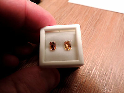 2pc Dry Cottonwood Creek Montana Natural Yellow Sapphires. Cut by me :) 1.35tcw