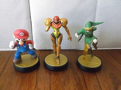 WiiU Amiibo Figures for Supersmash Mario Samus Link