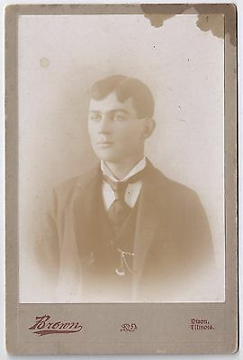 Young man with watch chain - by Brown of Dixon, IL