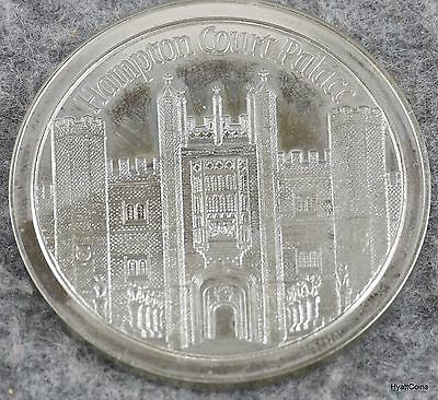 The Tower Mint Hampton Court Palace Solid Nickel Silver Medal w/ Box