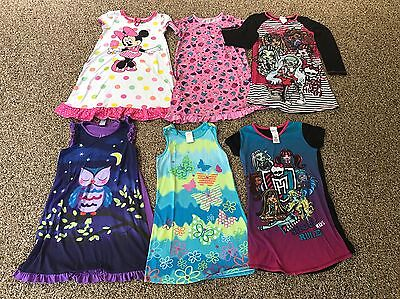 Lot of 6 Girls Size 10/12 Nightgowns from Children's Place/Disney Cute