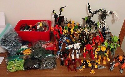 LEGO BIONICLE huge lot 12lbs lots of pieces and 19+ assembled figures