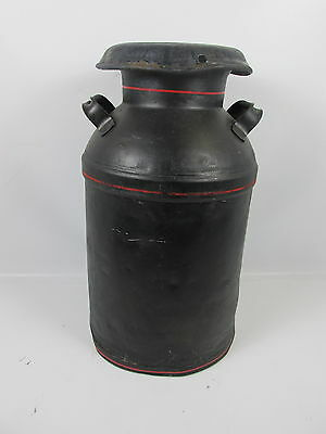 """Vintage Bordens Dairy Milk Large Lidded Handled Can 24"""" Tall"""