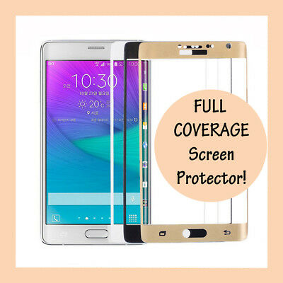 FULL COVERAGE Tempered Glass Screen Protector for Samsung Galaxy Note Edge