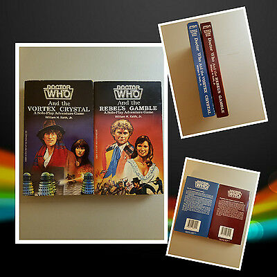 FASA Doctor Who and the Vortex Crystal and the Rebels Game 2 book lot RPG