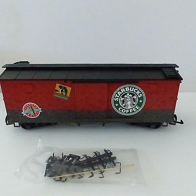 Lgb G Scale Train Starbucks Coffee Box Car 49670 W/box