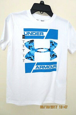 New Under Armour Boys Youth Small 7/8 Top polyester T Shirt