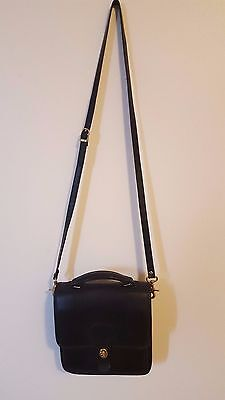 Coach-handbag, crossbody, shoulder, purse-Black leather
