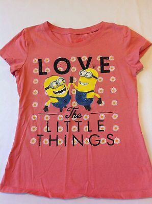Despicable Me Girls T Shirt Love the Little Things Size M Pink