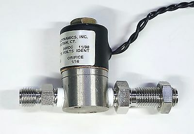 Precision Dynamics Air Solenoid Valve A2013 24VDC with 1/4 Compression Fitting
