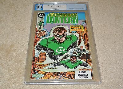 Pgx 9.9 Green Lantern #1 1St Issue! *white Pages* Copper Age 1990