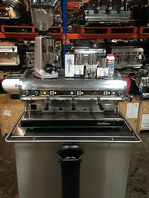 Package Deal San Marino Lisa Commercial Cafe Espresso Coffee Machine Mazzer Kit