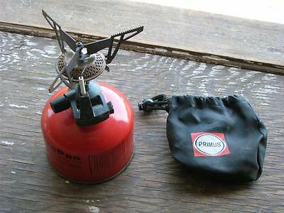 Vintage Backpacker's Lightweight Stove~PRIMUS~Folding Gas Canister Stove~Igniter