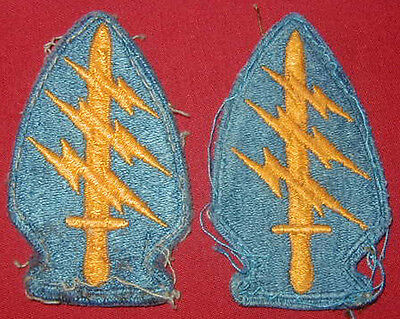 Original late 1960's U.S. Army Special Forces Group patch Lot (2) SF Cut Edge