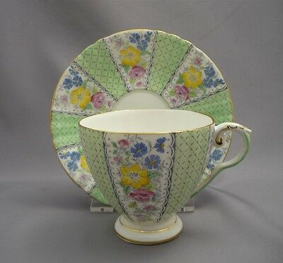 Royal Grafton BEVERLY Hand Painted Flowers English Bone China Tea Cup & Saucer