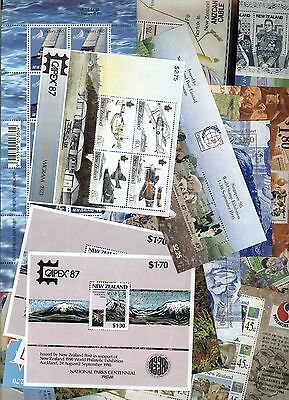 New Zealand stamps 37 x Minisheet Collection - 5 pages inc. Stampshow opts. MNH