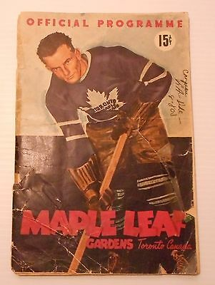 RARE EARLY  Toronto Maple Leafs Game Program