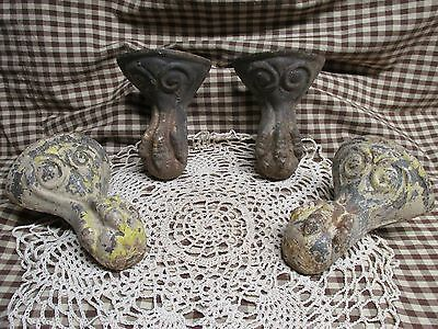 Antique cast iron eagle ball and claw tub feet complete set of four