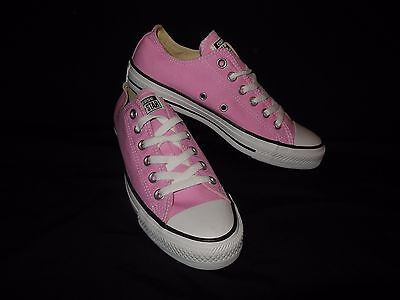 New CONVERSE ALL STAR PINK CANVAS SHOES LOW TOP Sz 6  MEN /  8 WOMEN
