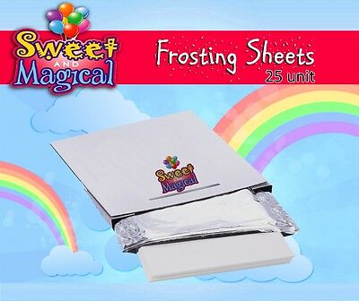 """Frosting sheets, Sugar sheets, Icing sheets - 24 To 25 pack - 8.5 X 11"""""""