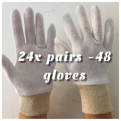 24  x BOXING GLOVES - soft COTTON  PERFECT FOR USE UNDER  BOXING GLOVES size L