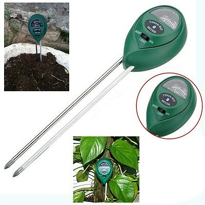 3 in1 Plant Flowers Soil PH Tester Moisture Light New Meter hydroponics Analyzer