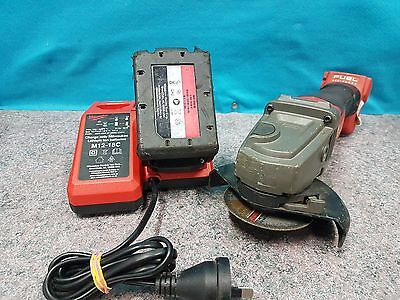 Milwaukee M14 18V Cordless Angle Grinder M18CAG125XPD With Charger and Battery