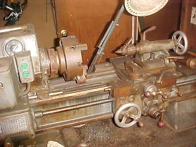 Engine Lathe, Sheldon Ws-46-P Variable Speed With Chucks, Collet Closer, Etc
