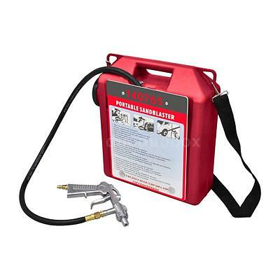 Portable Air Sand Blaster Kit With Sandblasting Gun And Hose D4F7