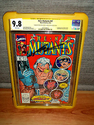 !!SALE!! New Mutants #87 CGC 9.8 SS SIGNED 2x Stan & Liefeld 1st Cable