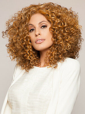Golden Blonde Women's African Small Roll Hair Heat Resistant Synthetic Full Wig