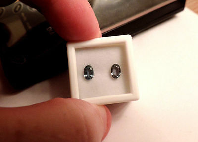 2pc Dry Cottonwood Creek Montana Natural Blue Sapphires.Cut by me 1.35tcw