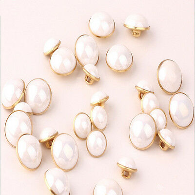 100pcs Creamy White Fuax Pearl Shank Buttons Sewing Craft Accessories