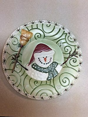 Yankee Candle Snowman Candle Jar Plate Number 108-1539