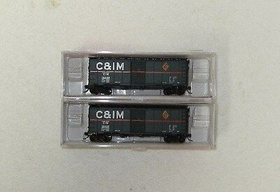 2 x InterMountain N Scale Chicago & Illinois Midland 40' Boxcars