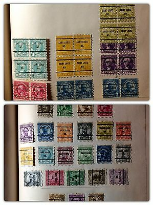 1000s ORGANIZED ACCUMULATION of 1920s PRECANCELED U.S. STAMPS HINGED A-M STATES