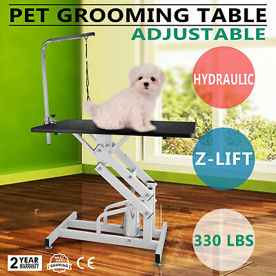 Z-lift Hydraulic Dog Cat Pet Grooming Table w/Arm Rubber Mat pet care GOOD
