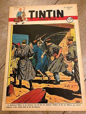 journal tintin Belge 4 (1949) couverture le Rallic RARE