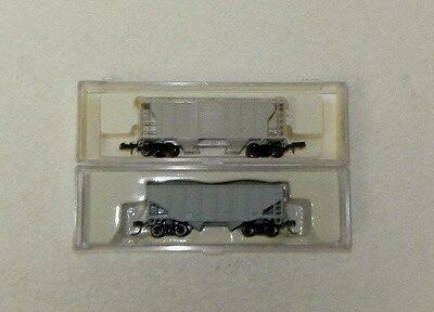 2 x Atlas N Scale Undecorated Freight Cars