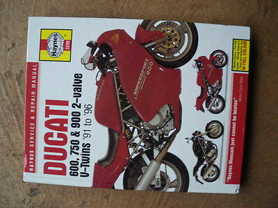Ducati 600 750 900  2 valve  V twin   workshop manual bool no 3290