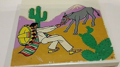 Vintage Mexican Style Hermosa GladdingMcBean ART TILE BY HOLLYWOOD PICTORIAL ART
