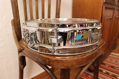 Ludwig 405 piccolo snare drum 13 x 3 metal shell 70 blue and olive badge