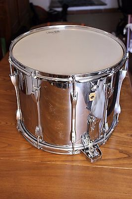 "RARE 1966 Ludwig 15"" x 12"" Super Sensitive keystone concert field snare drum"