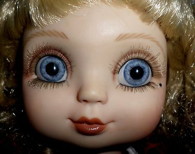 "Marie Osmond 1999 Adora Belle Holiday Cheer  Christmas Doll 15""  Big Blue Eyes"