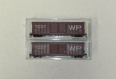 2 x AJCC N Scale Western Pacific 50' Double Door Boxcars