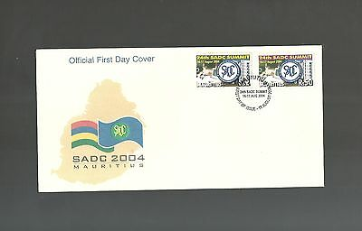 Sadc Mauritius First Day Cover 2004 + Leaflet