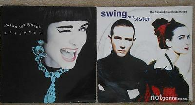 "SWING OUT SISTER Bundle Of 2 x 12"" Singles - Breakout & Not Gonna Change"