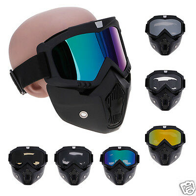 Motorcycle Riding Motocross ATV Filter Mouth Goggles Adjustable Eyewears Glass